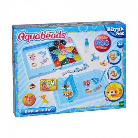 Aqua Beads 16 Renk Başlangıç Seti   840 Boncuk