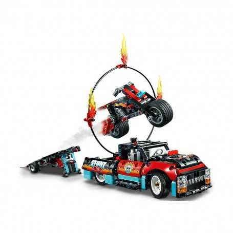 Lego Technic Gösteri Kamyoneti ve Motosikleti