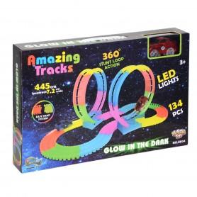 Amazing Tracks Led Işıklı ve Taklalı Yarış Pisti