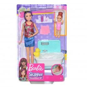 Barbie Bebek Bakıcısı Bebeği ve Aksesuarları Oyun Seti
