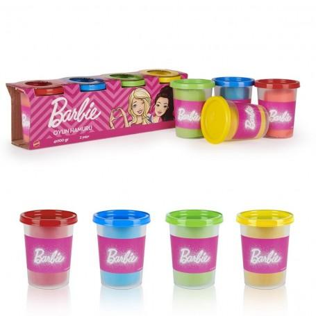 Barbie 4'lü Oyun Hamuru Seti