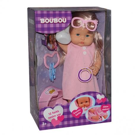 Boubou Aksesuarlı ve Fonksiyonlu Bebek