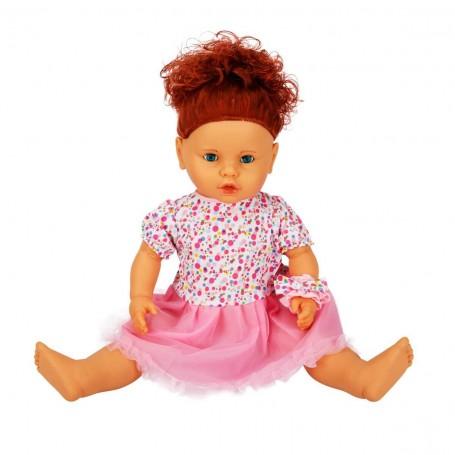 Lila Saçlı ve Sesli Et Bebek | 60 Cm