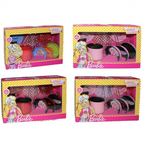 Barbie Yapışmaz Tencere Seti   11 Parça