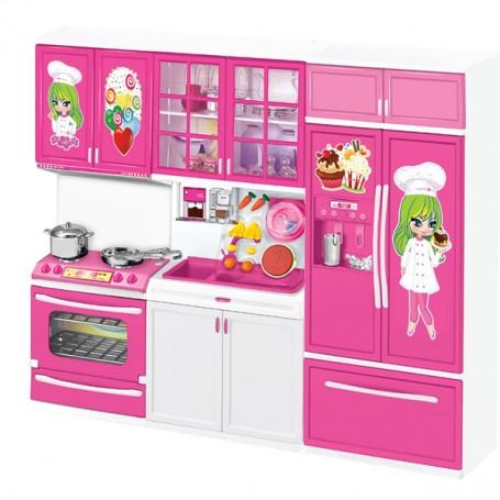 Vardem 3'lü Modern Işıklı Mutfak Seti