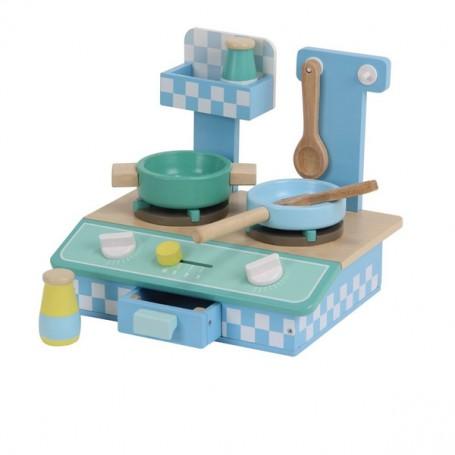 Eğitici Mini Ahşap Mutfak Seti