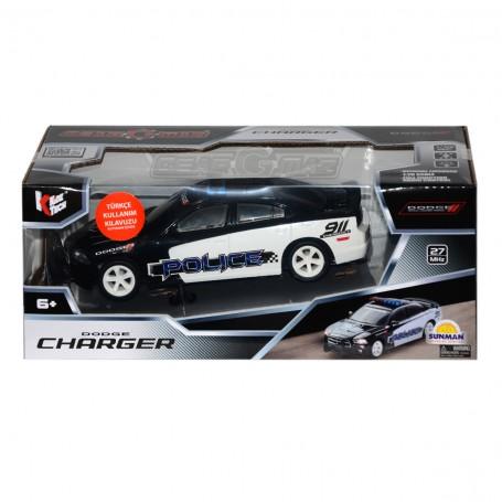 R/C Uzaktan Kumandalı Dodge Charger Polis Arabası   1:26 Ölçek