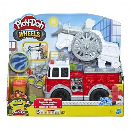 Play-Doh Wheels Çalışkan İtfaiye Aracı ve Renkli Hamur Seti