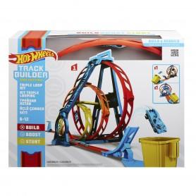 Hot Wheels Track Builder Üçlü Çember Aksiyonu Seti