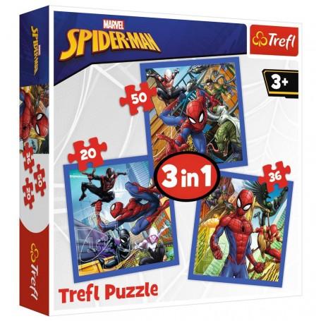 Örümcek Adam Spider Force 3'lü Trefl Puzzle