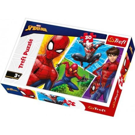 Örümcek Adam ve Miguel Trefl Puzzle / 30 Parça