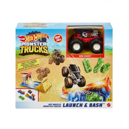 Hot Wheels Monster Trucks Fırlat ve Çarpış Oyun Seti
