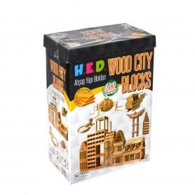 HED Wood City Ahşap Bloklar | 200 Parça