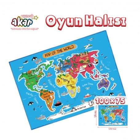 Dünya Oyun Halısı | 100x75 Cm