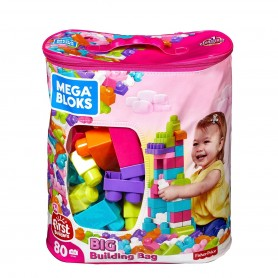 Fisher Price Mega Bloks 80'li Blok Torbaları | Mavi-Pembe