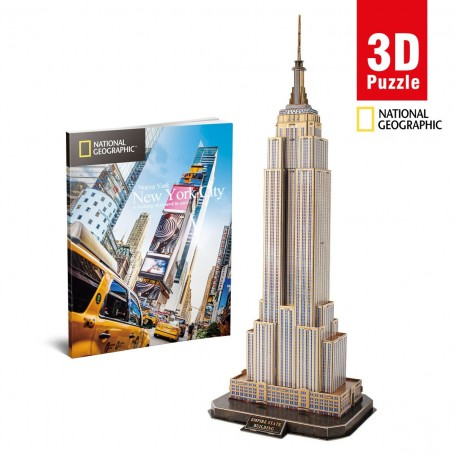 Cubic Fun National Geographic Empire State 3D Puzzle | 66 Parça