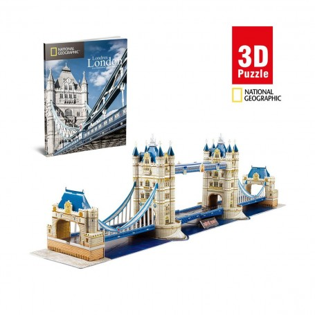 Cubic Fun National Geographic Tower Bridge 3D Puzzle | 120 Parça