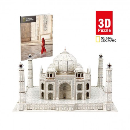 Cubic Fun National Geographic Taj Mahal 3D Puzzle   87 Parça