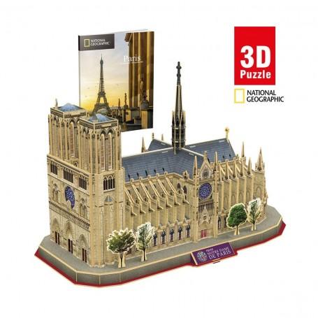 Cubic Fun National Geographic Norte Dame 3D Puzzle | 128 Parça