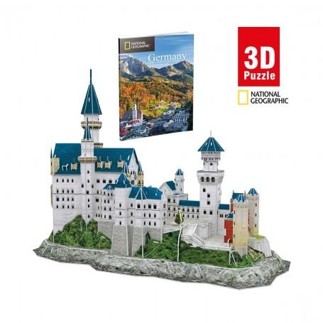 Cubic Fun National Geographic Neuschwanstein Kalesi 3D Puzzle | 121 Parça