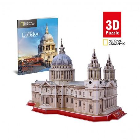 Cubic Fun National Geographic Aziz Paul Katedrali 3D Puzzle | 107 Parça