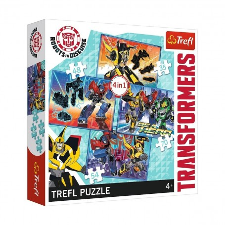 Transformers Transformation Time 4'lü Trefl Puzzle
